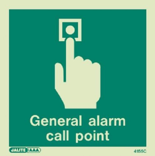 (4155 C) Jalite General Alarm Call Point Sign